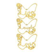 Butterfly Live Laugh Love Wooden Hanging Decoration set with Butterflies flowers